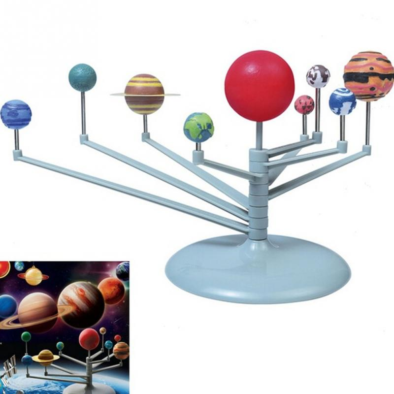 DIY Toys Nine Planetary Models Puzzle Assemble The Solar System Planets Kid's Toy Sets