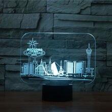 3d светодиодный светильник 7 цветов меняющий атмосферу в Лас