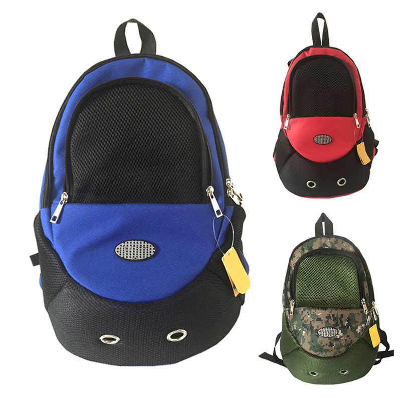 Double-Shoulder Pet Front Carrier Dog Cat Puppy Travel Bag Mesh Backpack Head out Carrier