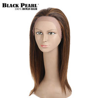 Черный жемчуг 20 дюймов длинные прямые коричневые парики для черный Для женщин Синтетические волосы на кружеве натуральные волосы парики Во
