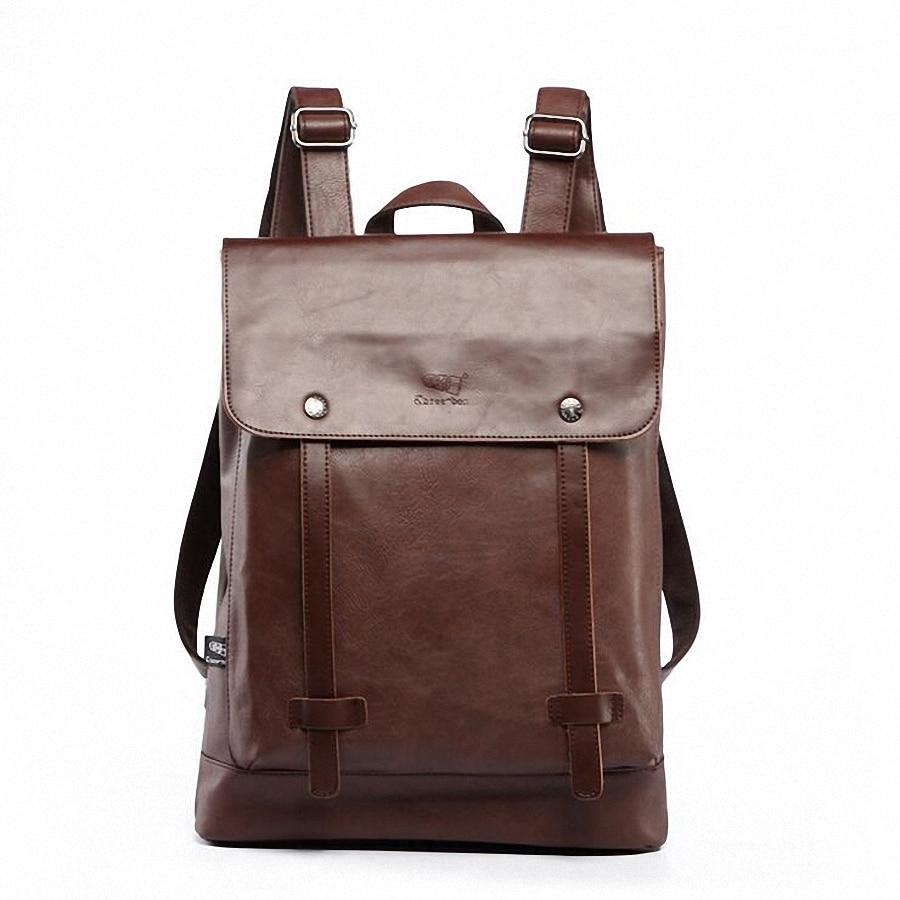 2017 Hot! Women fashion backpack male travel backpack mochilas school mens leather business large laptop bag LI-1597 pabojoe women mens school backpack italian 100