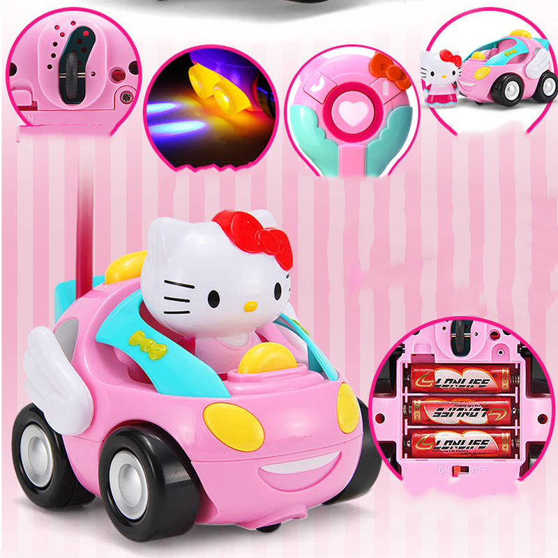 remote control toy car rc car high speed cute kitty cat musical for kids girls