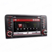 7 Double 2 Din Car DVD Radio GPS Navi Fit For Audi A3 S3 Auto Video Player Dual Channel CANbus Touch Screen Audio USB Stereo