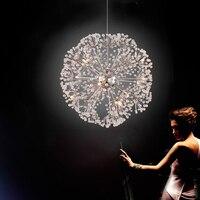 Nordic Спальня подвесной светильник современный Гостиная ресторан кристалл светодиодные подвесные светильники бар отеля Костюмы магазине св
