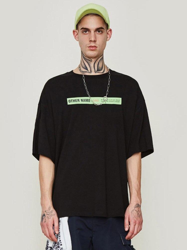 Extra grande versão do assentamento camisa rua hip hop curto de mangas compridas t shirt - 5