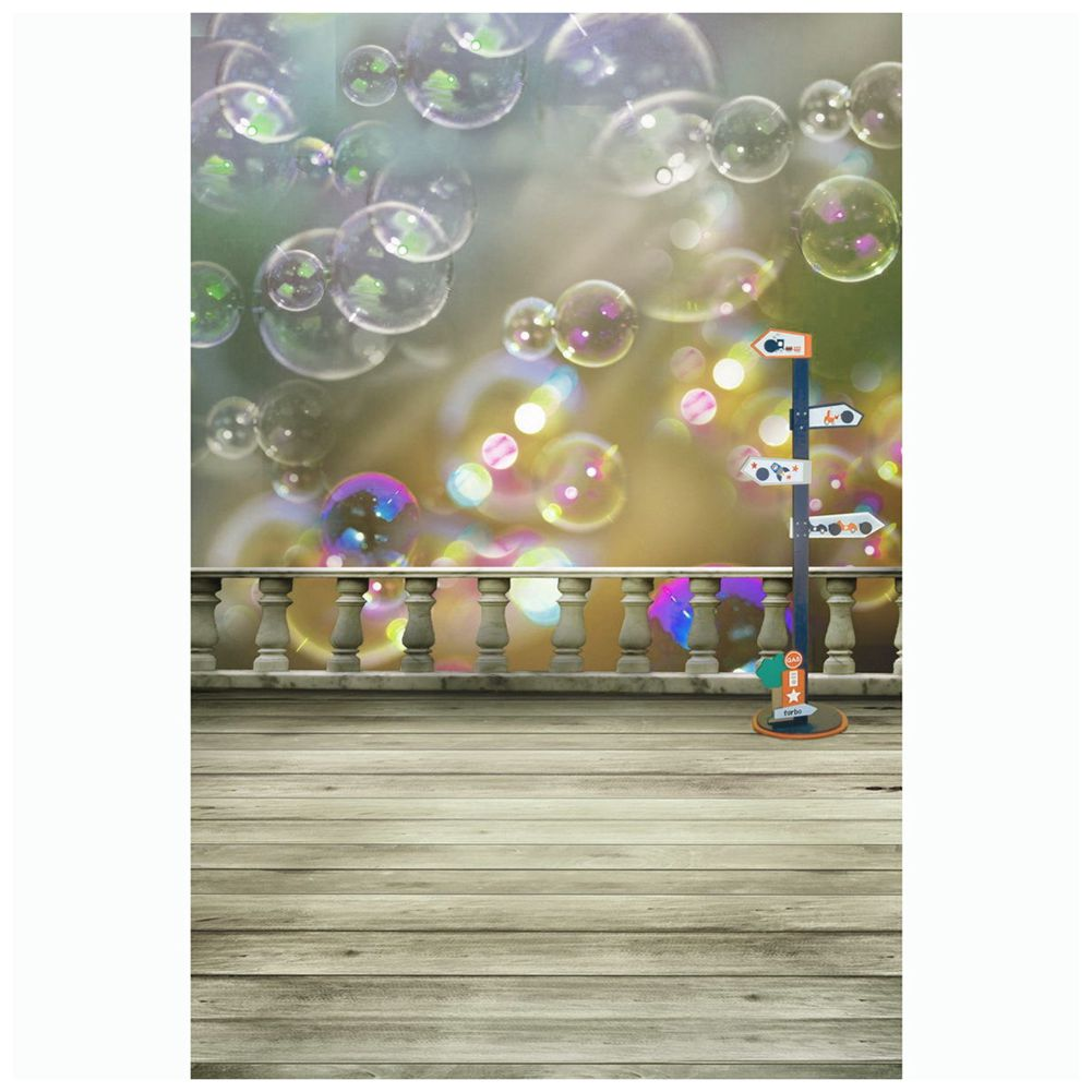 Colorful Cute Bubbles Floor Studio Backdrop Photography Prop Background Cloth 3x5Ft
