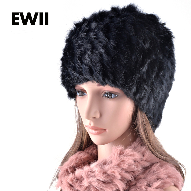 2015 Vogue winter beanies cap female rex rabbit hat and scarf collar dual purpose hats for woman