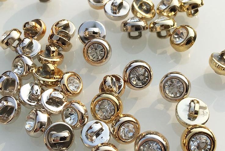 Бесплатная доставка, 30 шт./партия, Высококачественная стеклянная алмазная пряжка, футболка с шутливой надписью пуговицы для кардигана, стеклянная Хрустальная Кнопка 9 мм до 10 мм