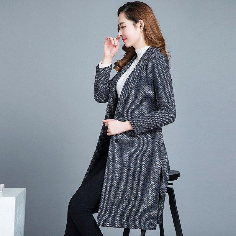 Sauvage Mince Trench Tresse Automne Printemps Coupe 2645 Décontracté Grande Brut coat Femelle Femmes 2019 Manteau Tissu Mode vent Hauts Gray Taille Longue q6FAqv
