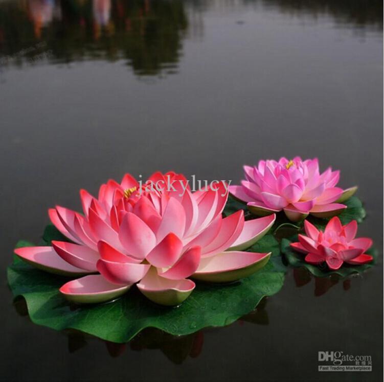 10 cm Flor de loto artificial de espuma flotante para decoraci/ón de estanques 4 unidades