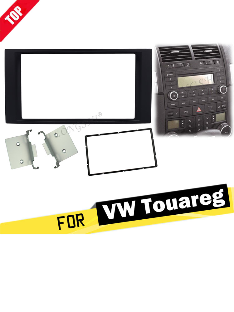 VW EOS stereo radio Facia Fascia adapter panel plate trim CD surround Double Din