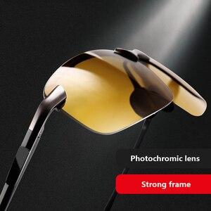 Image 5 - 2018 ナイトビジョンメガネ偏光サングラス男性ファッションナイトビジョン運転サングラスサングラス男性眼鏡昼と夜