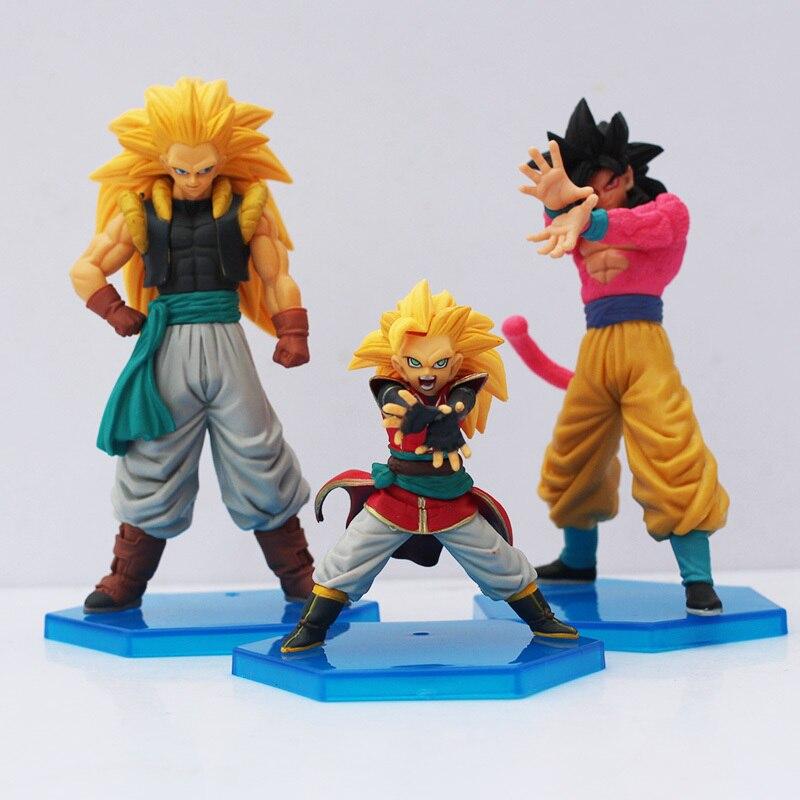 ФОТО 3pcs/set dragon ball z action figure toys pvc model dolls 8-13cm free shipping
