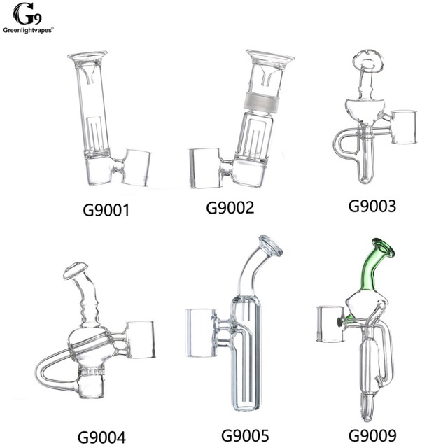 Greenlightvapes G9 שופר זכוכית מים מסנן צינור Bubbler מתאם קובץ מצורף 510 נייל/Henail בתוספת/TC יציאת
