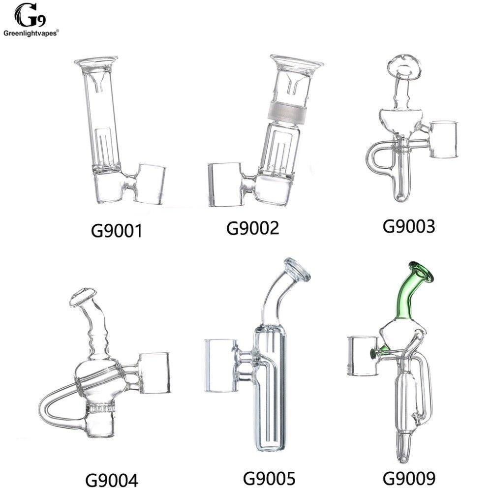 Greenlightvapes G9 Mundstück Glas Wasser Filter Rohr Bubbler Adapter Befestigung für 510 Nagel/Henail Plus/Mini Henail/ TC Port