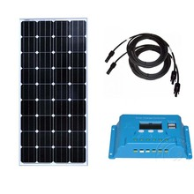 Kit Panneau Solaire 150 w 12v Solar Charge Controller 12v/24v 10A PV Cable Motorhome Caravan RV Solar Off Grid System study on solar pv grid connection system