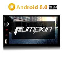 Pumpkin Octa Core RAM 4G ROM 32G 2 Din 7''Android 8.0 Universal Car Radio Audio Stereo NO DVD GPS Navigation Fast Boot Headunit car stereo octa core 7 android 7 1 double din in dash radio car video bluetooth wifi mirrorlink gps navigation system 4g dongle