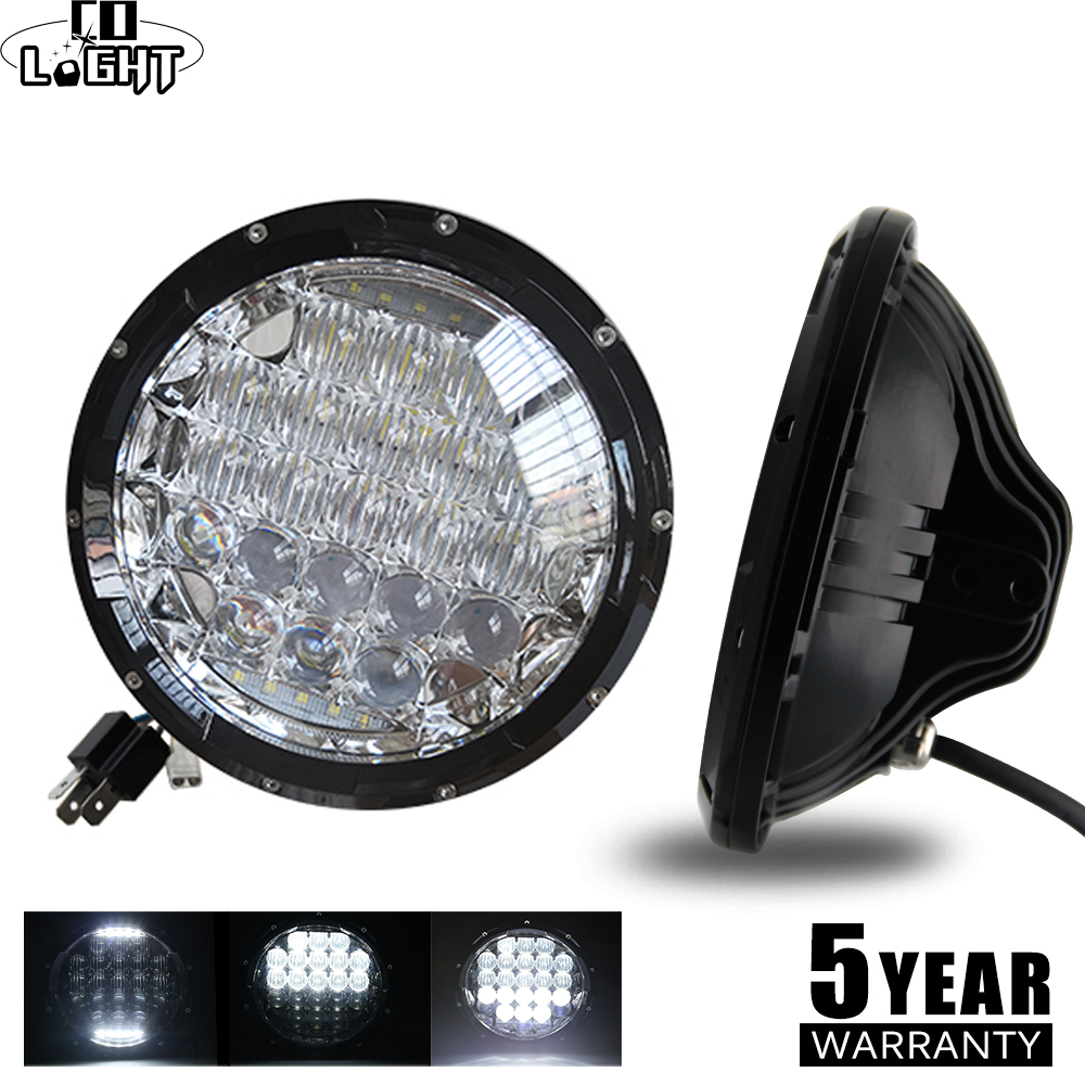 CO LIGHT 5D 7inch Led Headlights 105W LED DRL Hi Low H4 H13 Auto Daytime Running