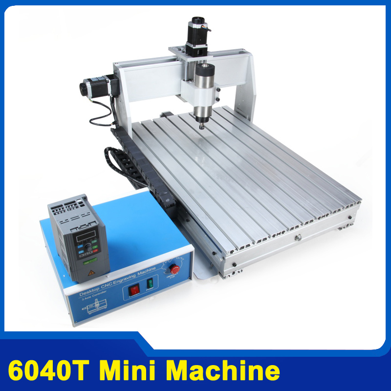 800W CNC 6040 Three-axis CNC Router Engraver Engraving Milling Drilling Cutting Machine +Control box+Inverter 6040 cnc laser engraving and cutting machine