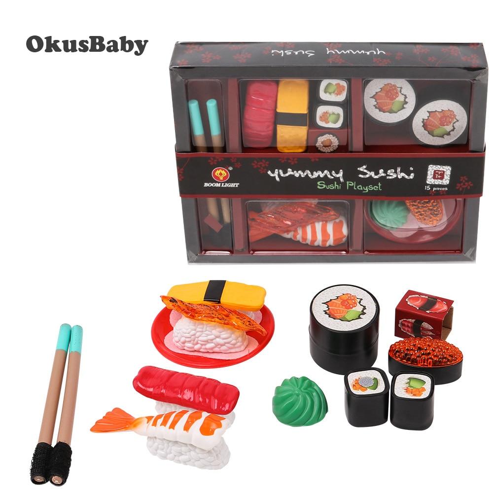 Набор игрушечный детский для суши, имитация дома, кухня, игрушки для ролевых игр, обеденный Ланч-бокс, Японская еда, игрушки для детей