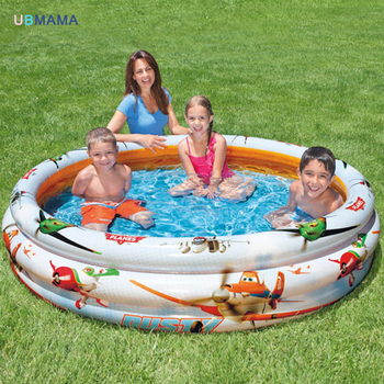 Plastic cartoon plane 3 layer inflatable swimming pool ocean ball children pool fishing pond Basin 168 *40CM