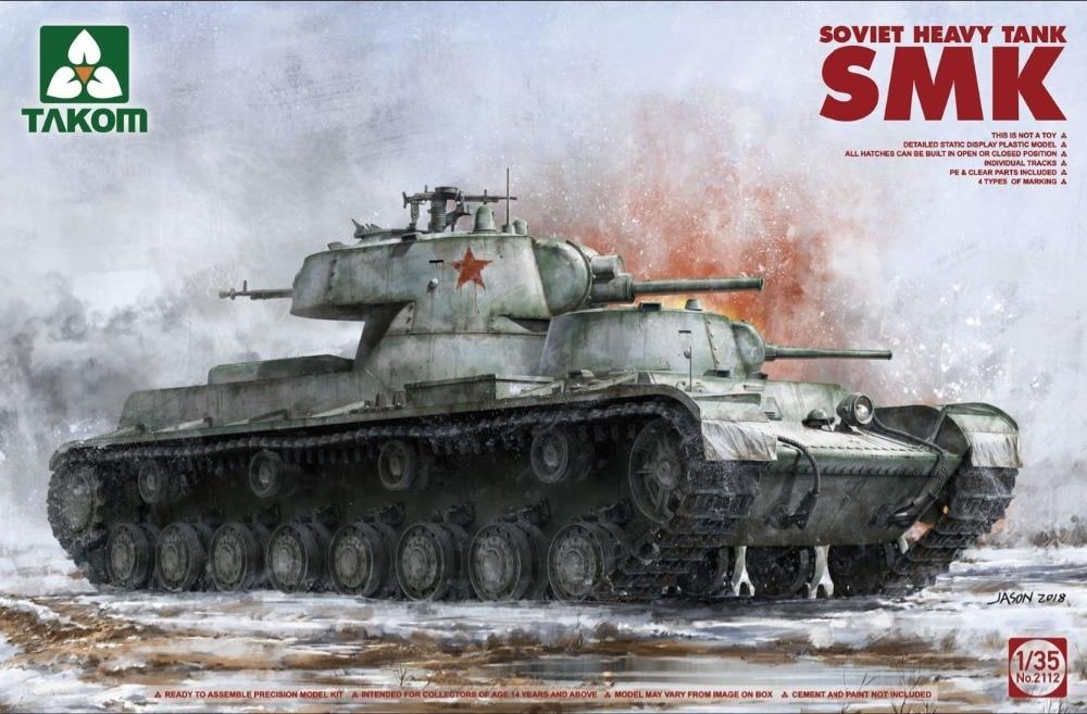 Takom 1/35 Soviet Heavy Tank SMK #2112 spade ace 1 35 35011a metal track soviet 2s7