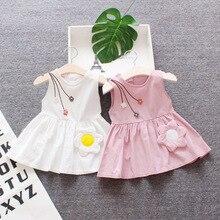 Одежда для маленьких девочек, летнее платье с подсолнухами для новорожденных девочек, платья без рукавов для малышей, вечернее свадебное пл...