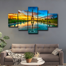 Canvas Posters Home Decor Wall Art 5 Pieces Iron Tower Paintings HD Prints  Pictures Framework Abooly