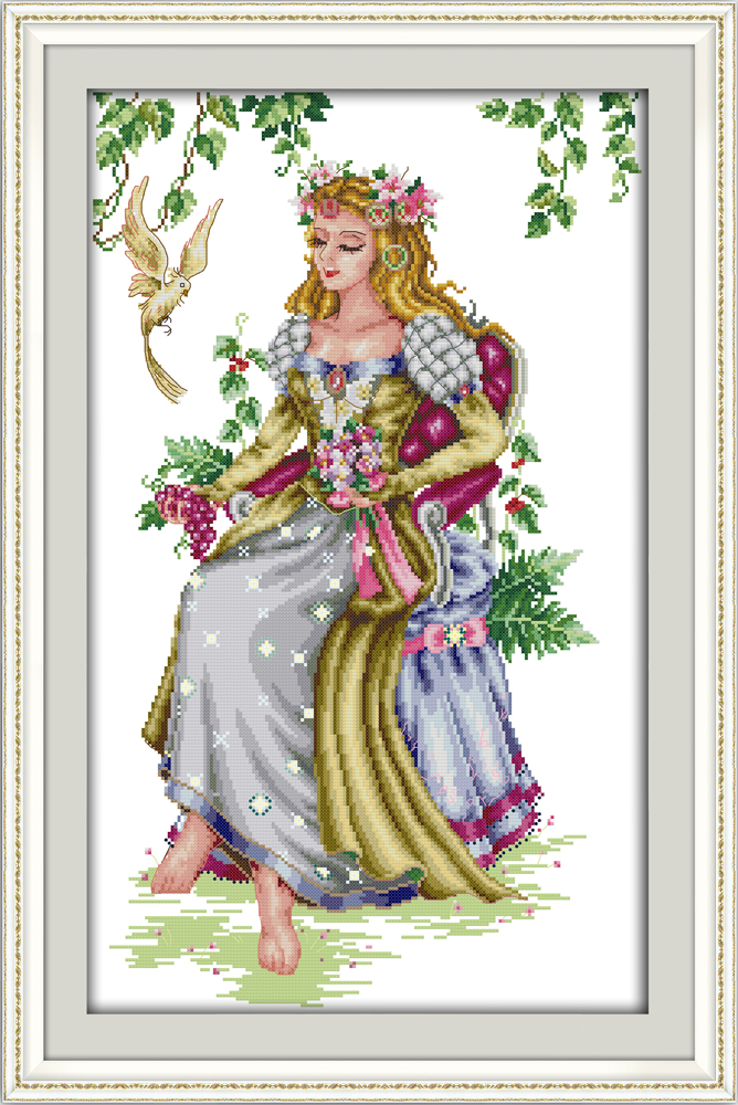 2019 Fashion The Forest Goddess Package Counted Printed On Fabric Dmc 14ct 11ct Cross Stitch Kits,embroidery Needlework Sets Home Decor Matching In Colour