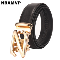 Men S Leather Belt Automatic Buckle Belt Fashion Business Letter Z Leopard Belt Jeans Belt Extended