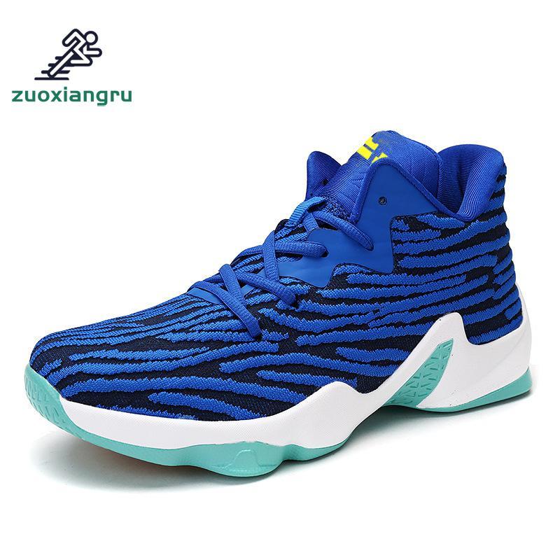Chaussures de basket Zuoxiangru pour hommes chaussures de basket-ball entraînement arène chaussures portable amortissement caoutchouc bottes élasticité respirante