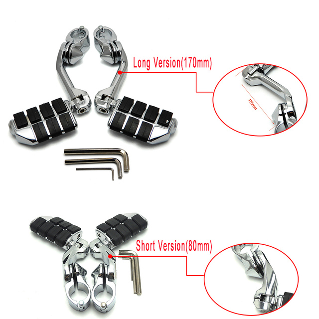 32mm (1-1/4″)(1.25″) Motorcycles Foot Pegs