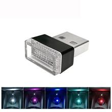 Автомобильный атмосферный свет светодиодный мини USB прикуриватель декоративные огни лампы