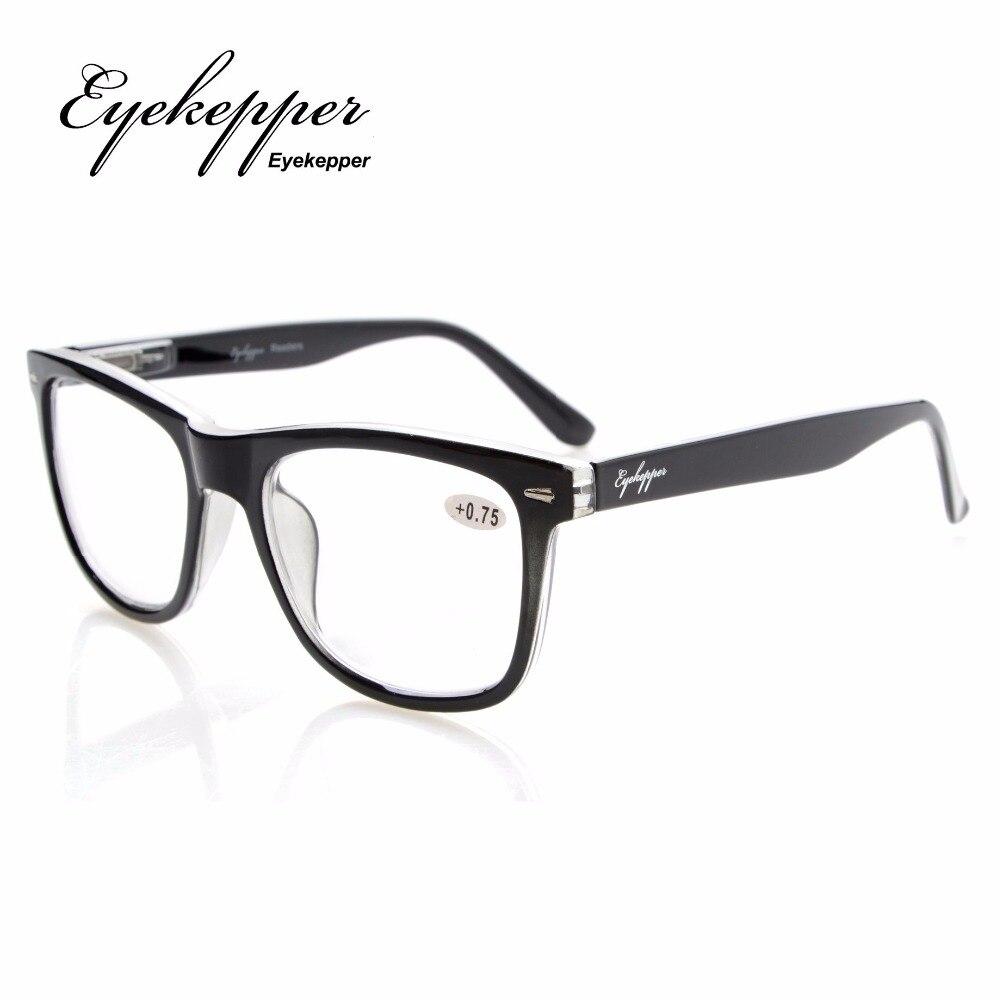 I lettori di qualità Primavera-Cerniere Retro Rockers Deluxe occhiali da lettura Black/Brown +2.5 1HZRxnAZ
