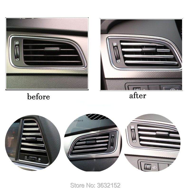 3M U Style Car Styling Interior Decoration Strips Air Conditioning Outlet For SsangYong korando kyron rexton 2 rodius actyon image
