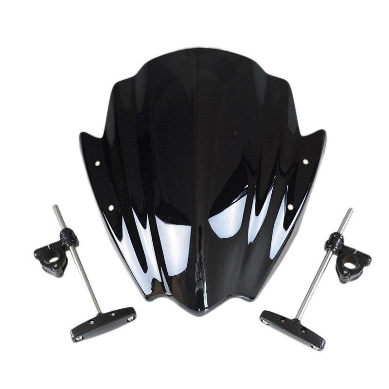 Universal Street Bike For Harley 7/8 & 1 Handlebar Mount Motorcycle MT 03 07 09 10 Windshield Windscreen Windscherm