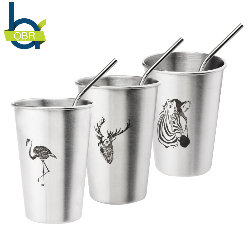 OBR 350/500ML <font><b>Simple</b></font> Stainless Steel Juice Beer Water <font><b>Cup</b></font> Unbreakable Stackable Pint <font><b>Cups</b></font> Juice Mug <font><b>Coffee</b></font> <font><b>Cup</b></font> Drinking <font><b>Cups</b></font>