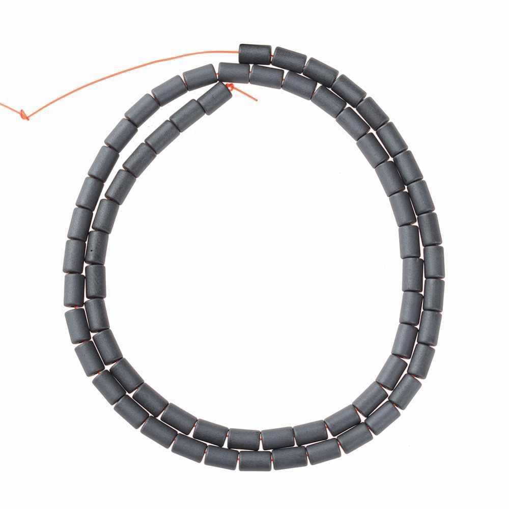 AAA Natuursteen Hematiet Kralen Matt Cilinder vorm Losse kralen 4/5/6/8mm voor DIY ketting Armband Sieraden Maken Accessoires