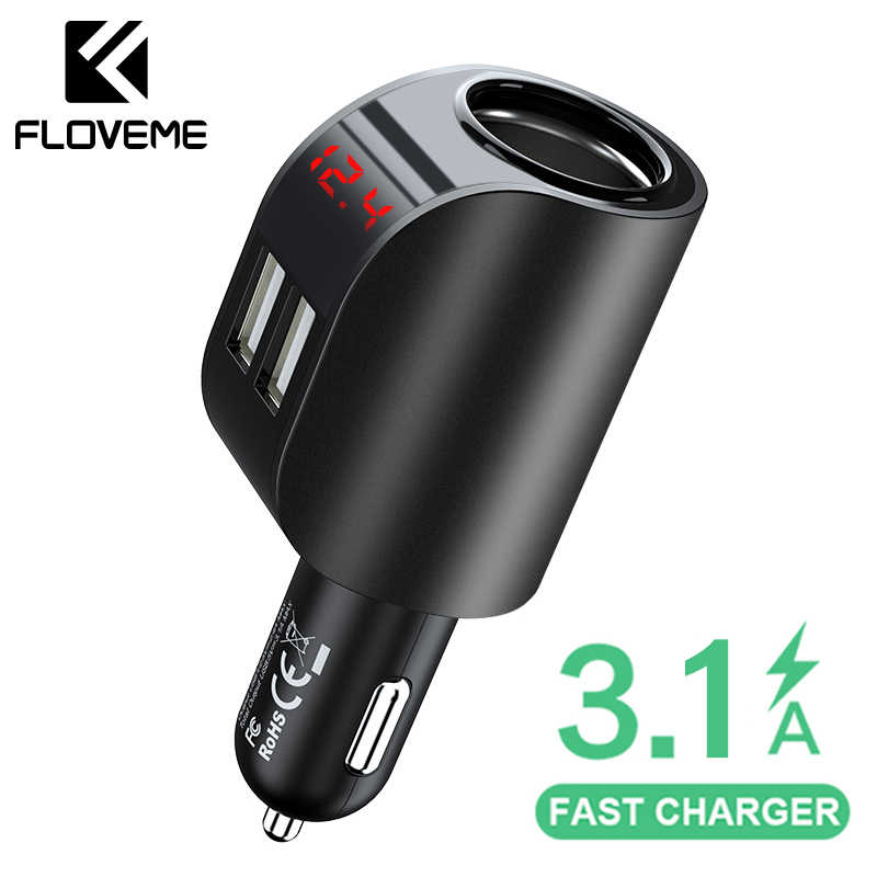 FLOVEME 3.1A USB Car Charger Mobile Phone Car Chargeur Charger USB Fast Quick Charging Car Charger 12V For iPhone Samsung Xiaomi