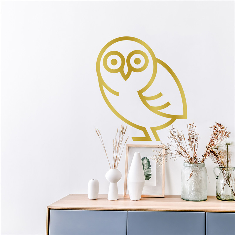 28CM*24CM Small Size Owl Wall Stickers For Kids Rooms Bedroom Decoration Vinyl Muurstickers Home Decor Sticker Mural