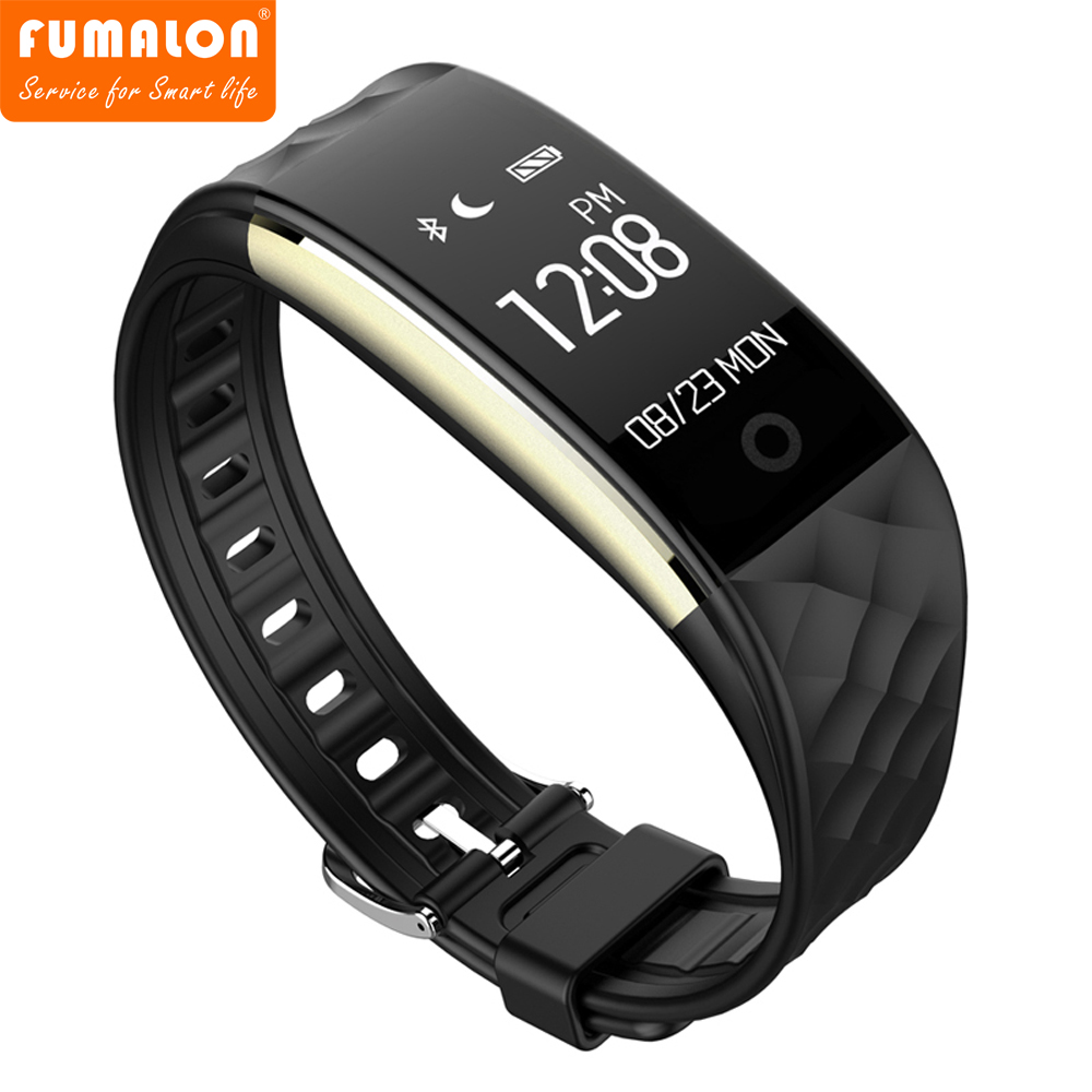 S2 Fitness Tracker IP67 Waterproof Smart Band Real Time Heart Rate Wristband For Android 4 3