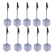 Pack of 10 Place Card Holder - Wedding Name Table Setting Marker - Shop Display Price Tag - Silver