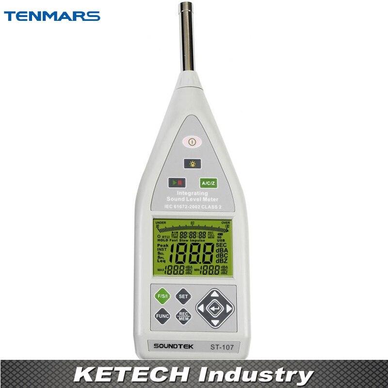 Intégrant le sonomètre, le sonomètre de classe 2 TENMARS ST-107