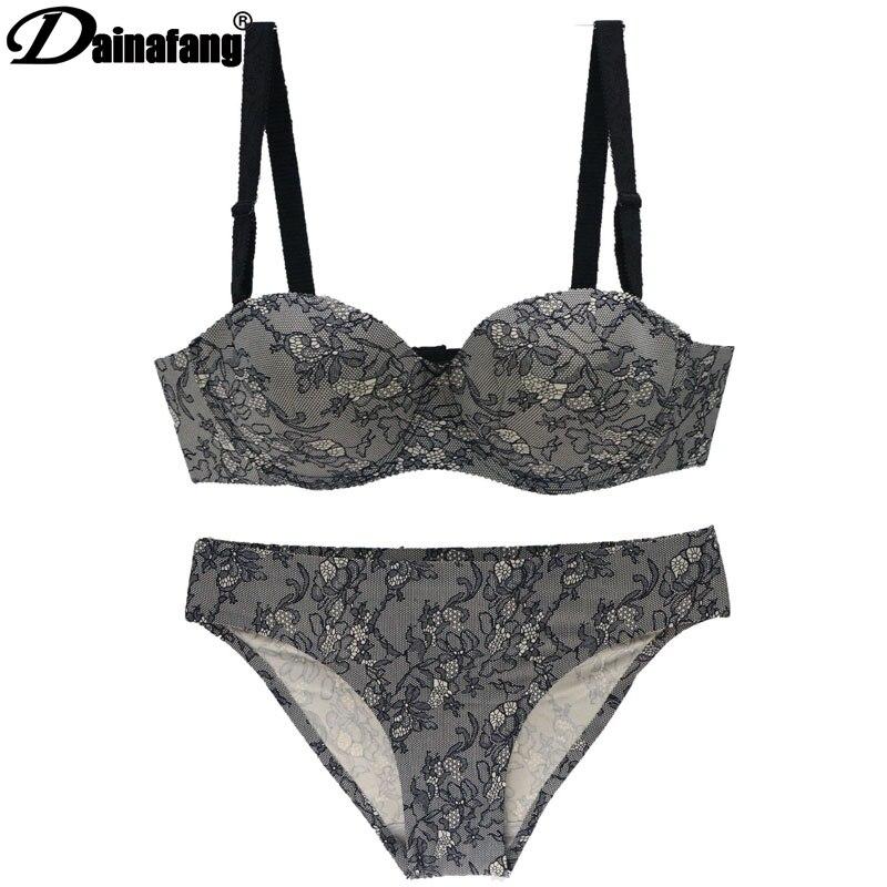 DAINAFANG sexy de gama alta de lujo de arriba ropa interior 34 36 38 40 42ABC moda Vestido corto vestido Lencería de algodón de G-String Pantalones