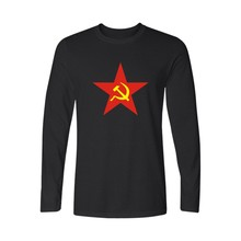 CCCP USSR Russian Famous Brand Printed T Shirt Men and Soviet Union Men TShirt Long Sleeve T-shirt in Couple Tees and Tops 4XL