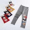 Precioso otoño polainas de la muchacha niños de dibujos animados de mickey minnie leggings para niñas Rinden los pantalones pantalones bebé ropa de niña