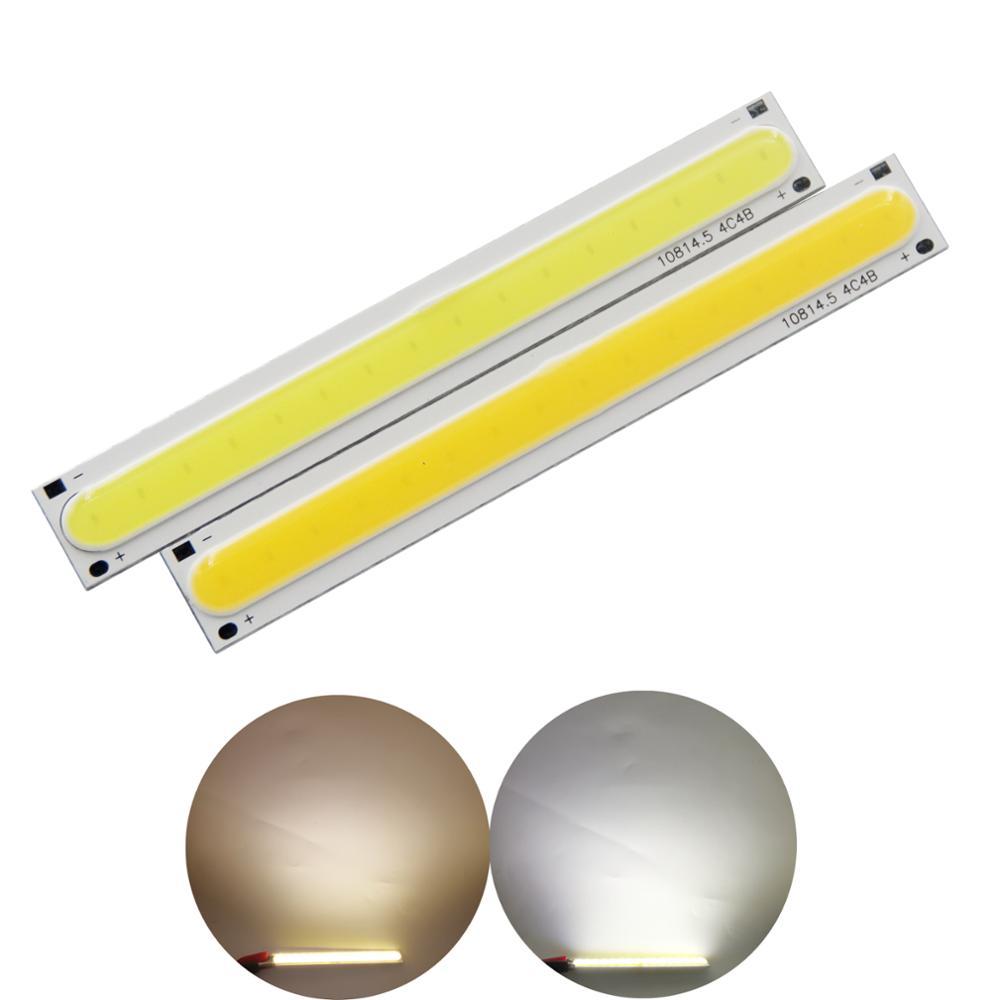 manufacturer 108mm15mm LED COB Strip module Light Source Lamp 12V DC 5W White Warm Bar FLIP Chip Bulb for DIY lamp