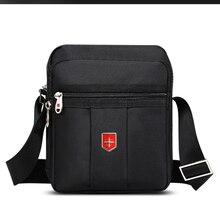 İsviçre marka omuzdan askili çanta erkekler için günlük su geçirmez Oxford postacı çantası Unisex çok fonksiyonlu iş rahat evrak çantası