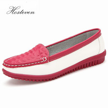 Factory Outlet Genuine Leather Shoes Woman Summer Solid Bowtie Flat Shoes Fashion Women Flats Ballet Women Shoes Slip on Loafers