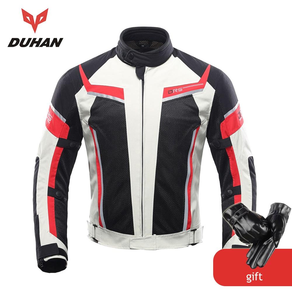 DUHAN Motorcykeljacka Män Sommar Andasskyddad Off-Road Jacket Mesh Moto Racing MotocrossJacket Motorcykelskyddskläder